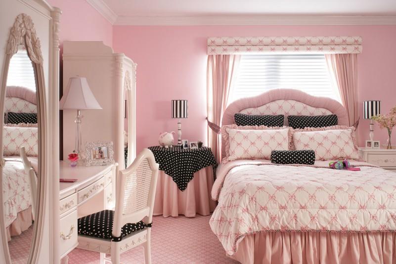 Black Dot Pink And Polka Bedrooms