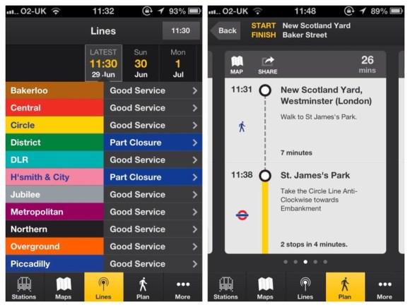 tube tracker lines plan
