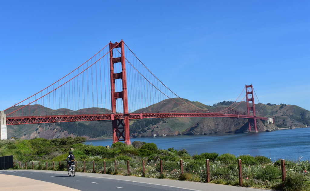 Golden Gate Bridge from the Presidio Park