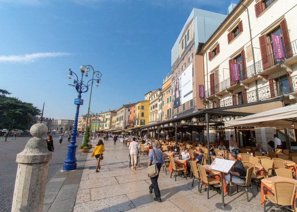 Piazza Bra is a key part of this travel guide