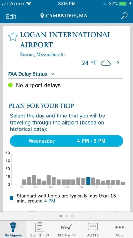 MyTSA is a reliable app for US travelers