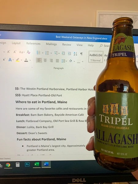 I love Allagash beer so much that I even had some as I was writing this article.