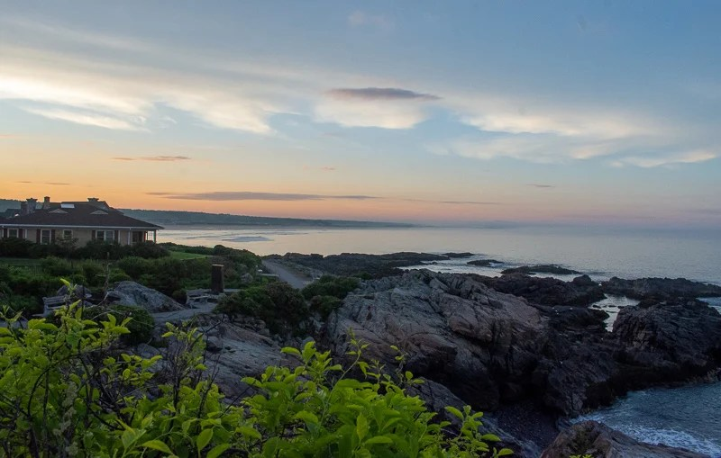 The Marginal Way in Ogunquit is an amazing place to catch the sunset. It's also one of the best weekend getaways in New England.