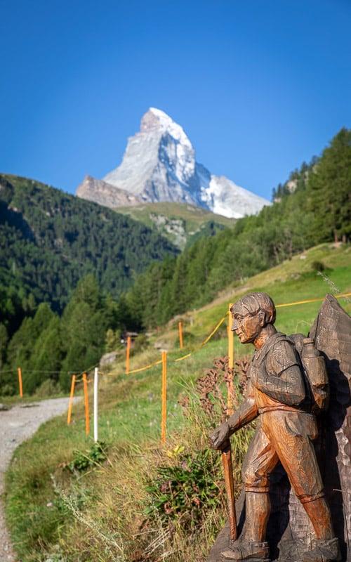Hiking and climbing are popular activities in Zermatt.