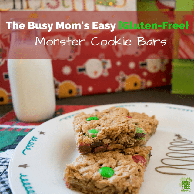 The Busy Mom's Easy {Gluten-Free} Monster Cookie Bars