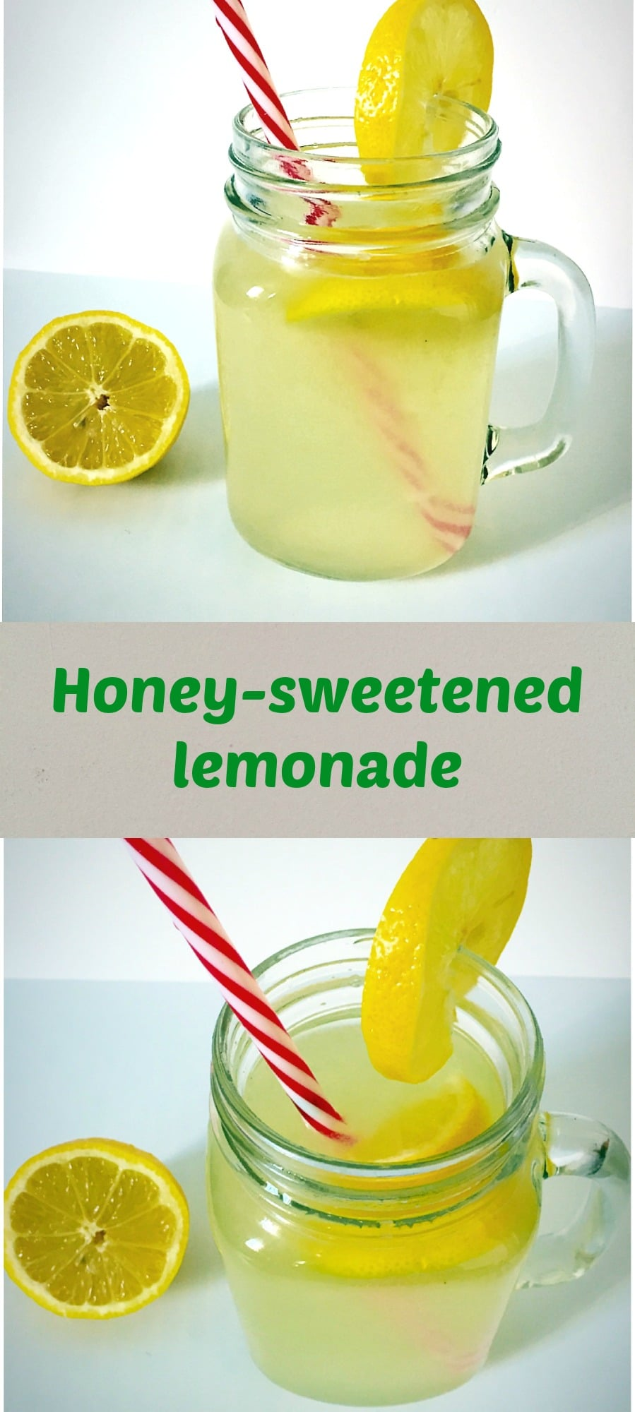 Honey-sweetened lemonade