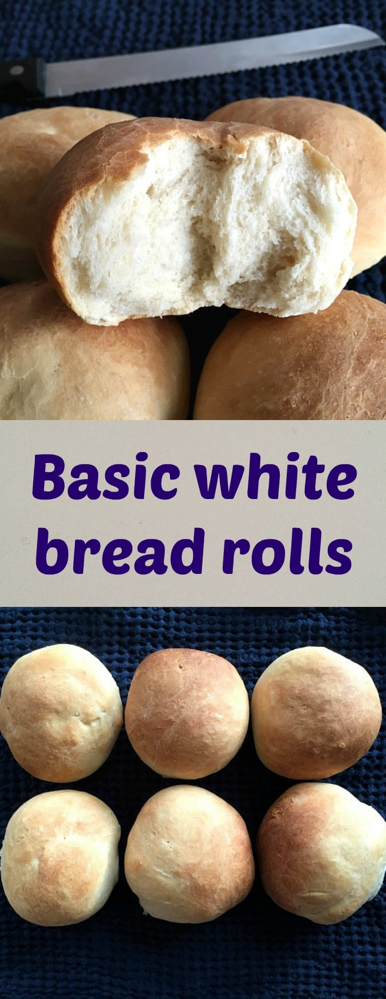 Basic white bread rolls