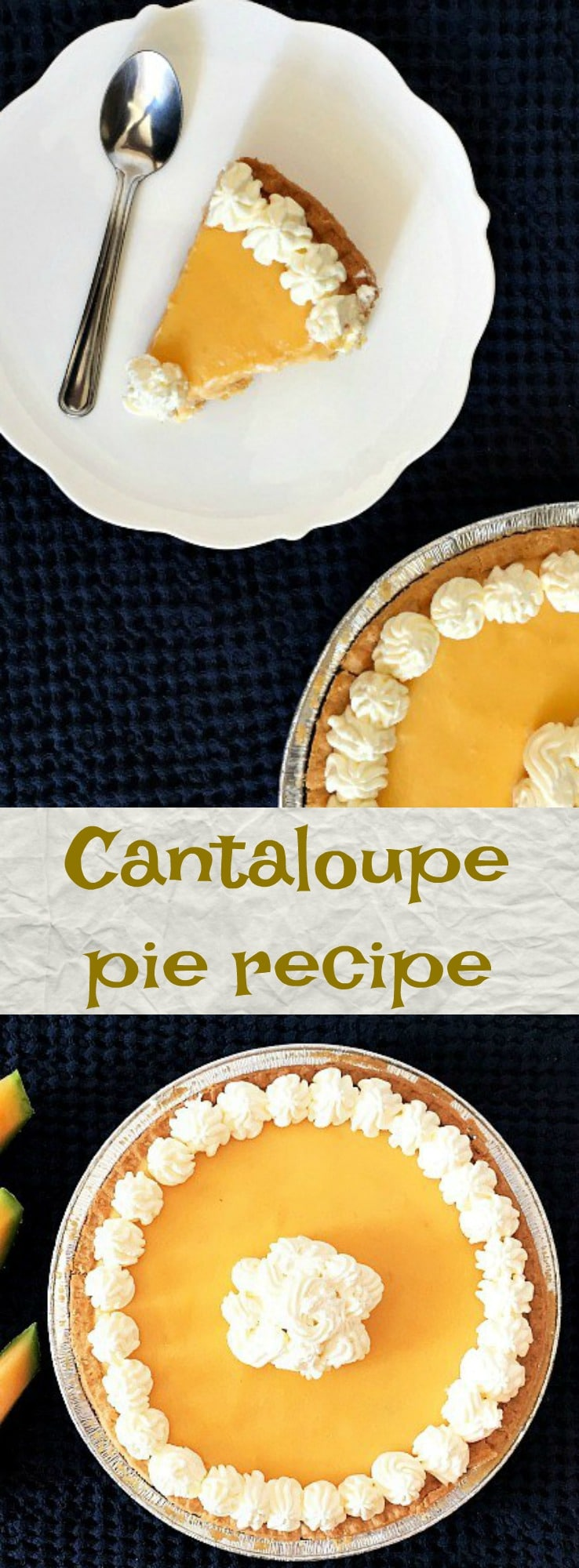 Cantaloupe pie recipe, a refreshing dessert perfect for a warm, sunny day. Top it with whipped cream for the ultimate treat experience.