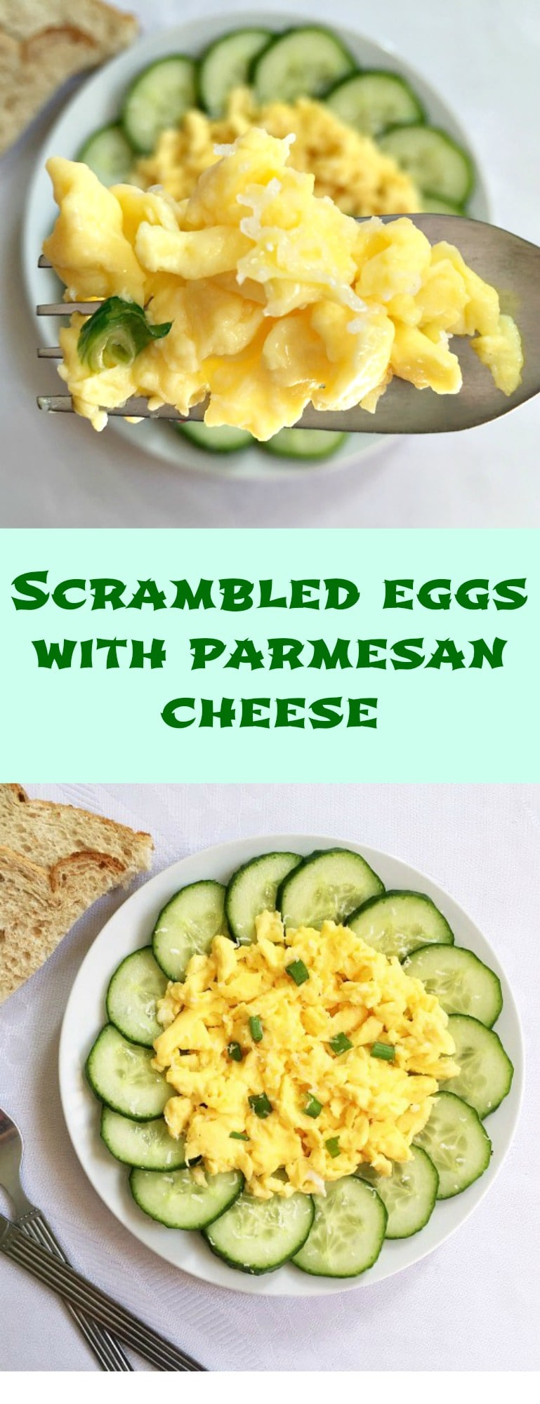 SBest scrambled eggs recipe with parmesan cheese