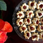 Quince jam thumbprint butter cookies