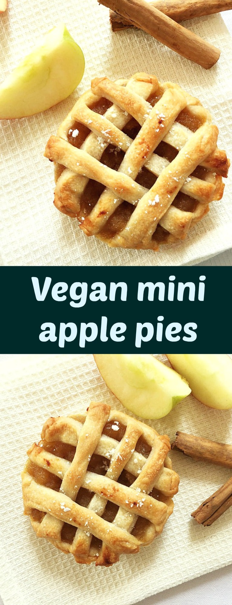 Easy mini apple pies, Autumn's finest dessert. Forget any fancy sweet treats, this Thanksgiving, apples pies will be the favourite.