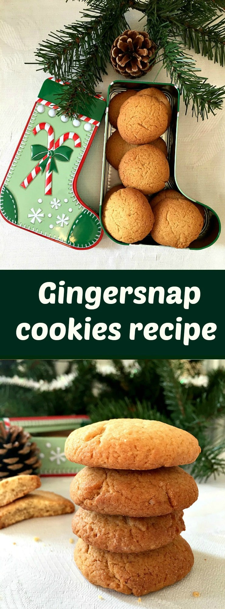 Gingersnap cookies recipe, deliciously crunchy and so flavourful. The best Christmas cookies.