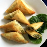 Greek spinach and cheese triangles