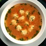 Romanian meatball soup
