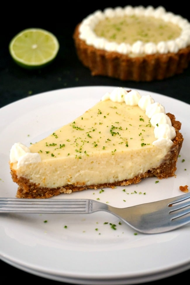 Refreshing key lime pie with condensed milk
