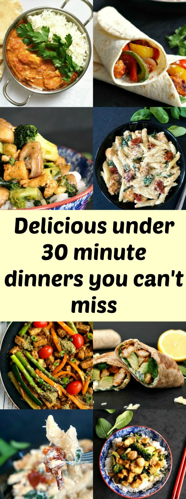 Delicious under 30 minute dinners you can't miss