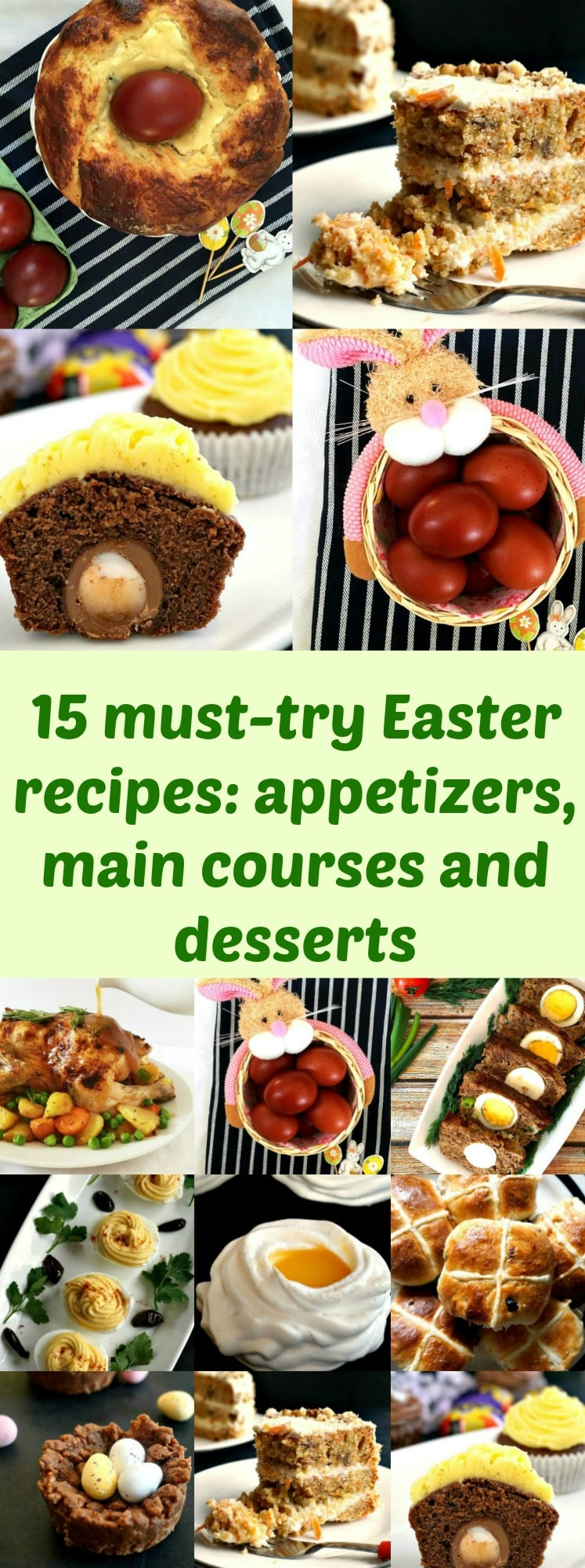15 must-try Easter recipes: appetizers, main courses and desserts