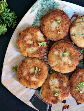 Mashed potato tuna patties