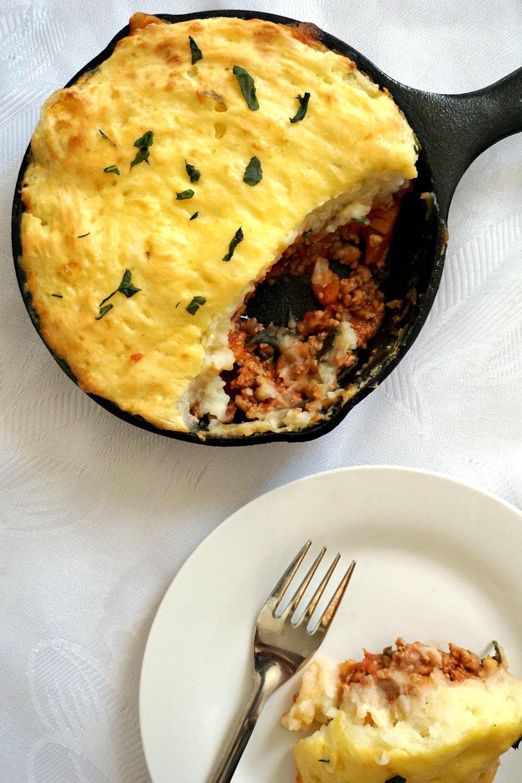 Skillet Shepherd's Pie with Ground Turkey
