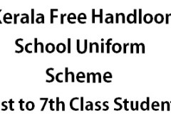 Free Handloom School Uniform Scheme Kerala