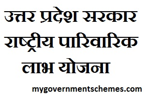 Uttar Pradesh National Family Benefit Scheme Online Registration