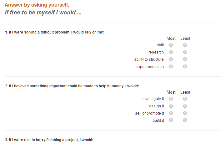 Kolbe-A-Questionnaire