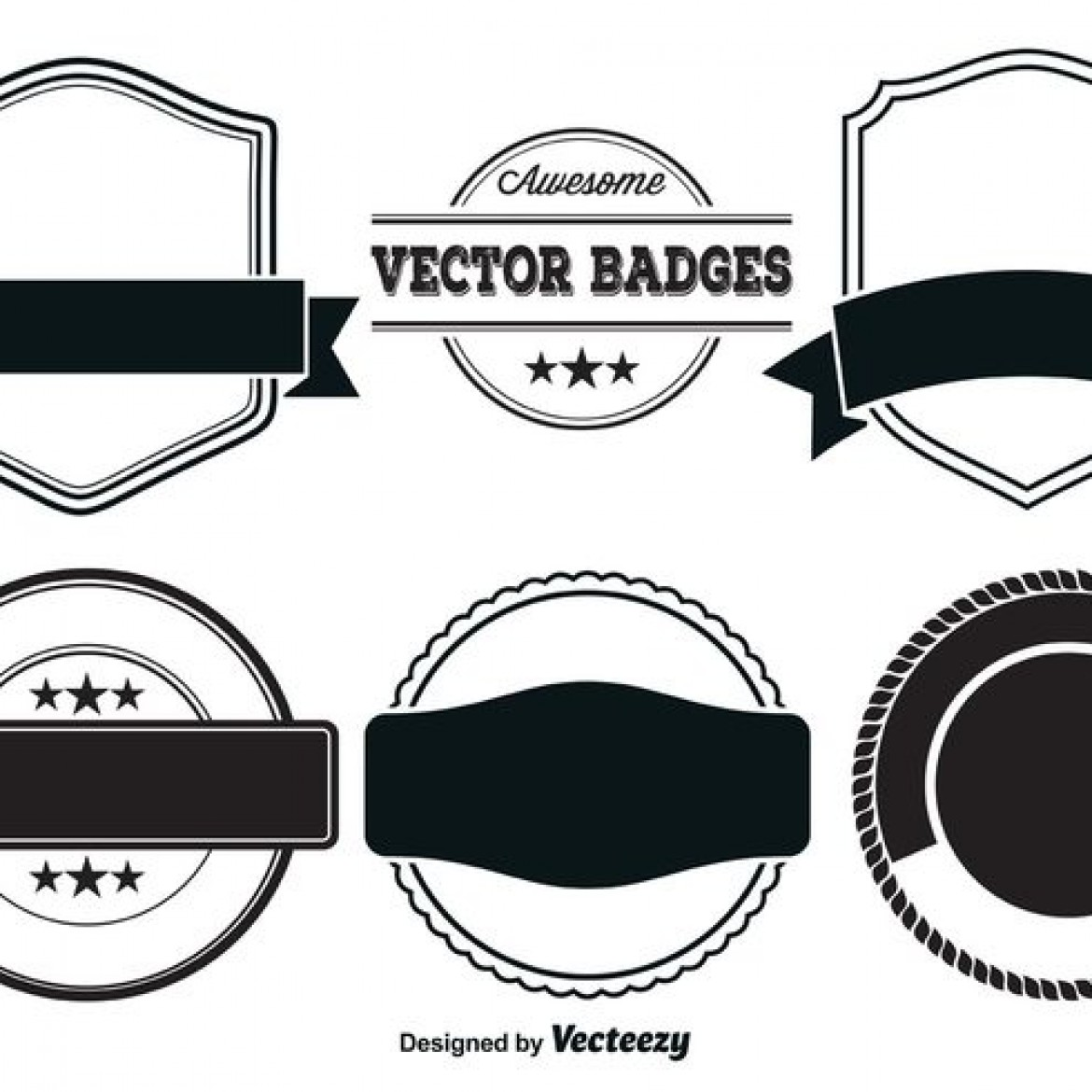 Vintage Logo Badge Template Blank