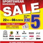 Sportswear Warehouse Sale,  Sale Hot Price from RM5 only!