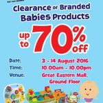 Toys R Us Offer Clearance of Branded Babies Products Sale!
