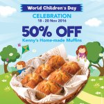 Kenny Rogers ROASTERS 50%off Kenny's Home-made Muffins Deals!