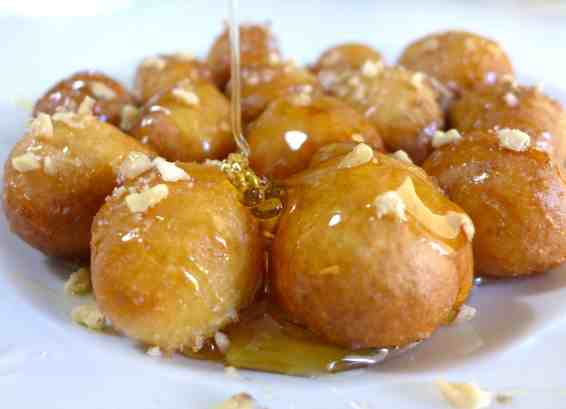 Loukoumades recipe (Greek Donuts with Honey and Walnuts)-2