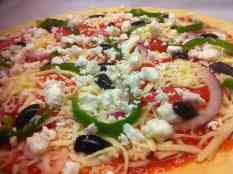 Homemade Greek Pizza with Olives-prep2
