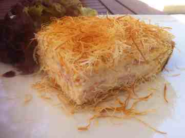Kataifi-Dough-Pie-with-Cheese-and-Bechamel-sauce
