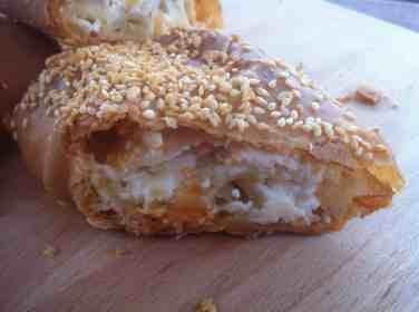 Tiropita Strifti (Feta Cheese Pie with Homemade Phyllo)