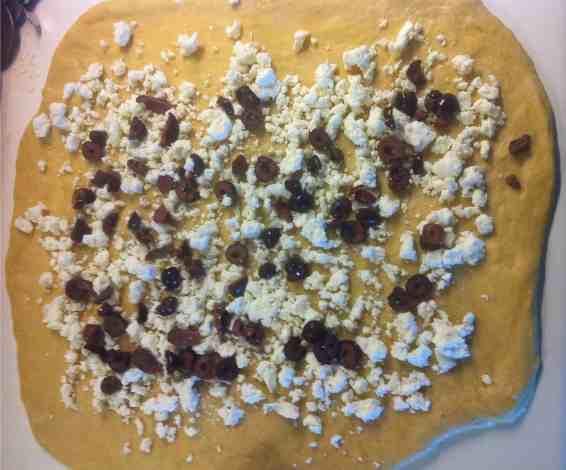 Delicious Brioche-style Olive Bread (Liopsomo)-prep