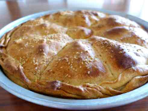 Traditional Greek Leek Pie recipe (Prasopita)-2