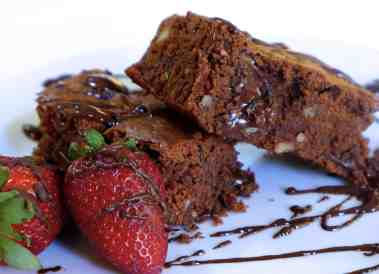 Lenten Chocolate Brownies-2
