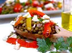 Greek Lentil Salad recipe with Feta cheese-2