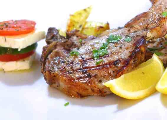 Greek Pork Chops recipe with roast Potatoes (Brizola sto Fourno)-2