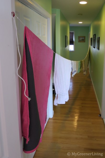 Line drying inside