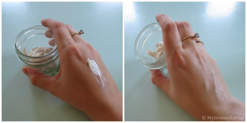 This chemical free sunscreen recipe makes a product that easily blends into skin