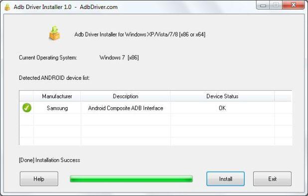 TTélécharger ADB Driver Installer v6.0 pour Windows XP / Vista / 7/8/10
