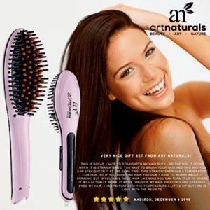 User reviews on a hot hair brush