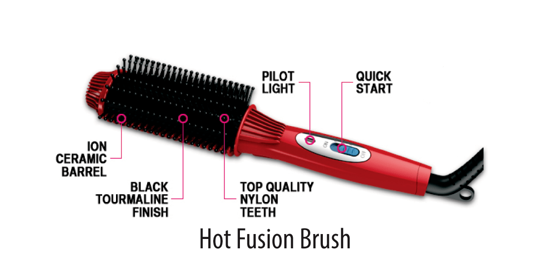 fusion hair brush straightener reviews
