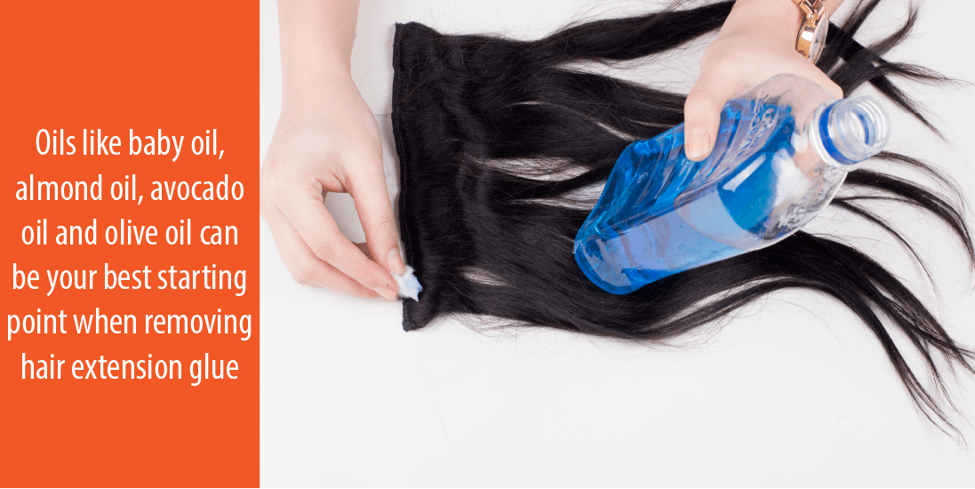 Oil up: How to remove hair glue