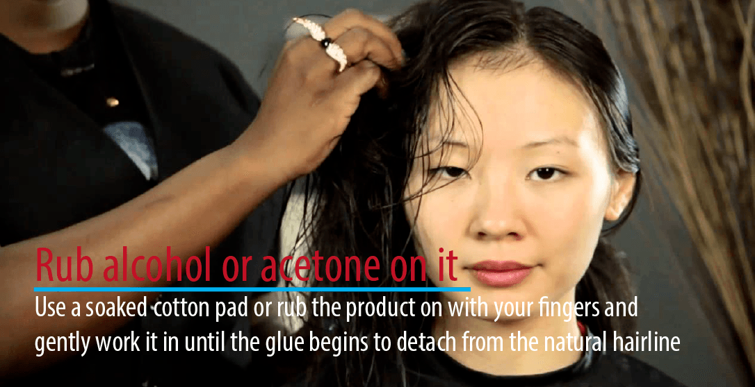 Rub alcohol or acetone on it