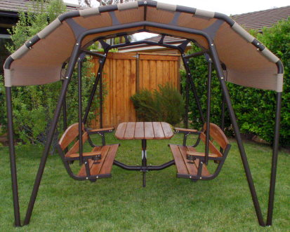the ultimate outdoor 6 person patio swing set