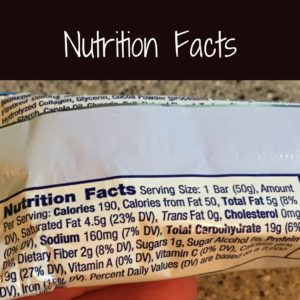 Nutrition Facts3
