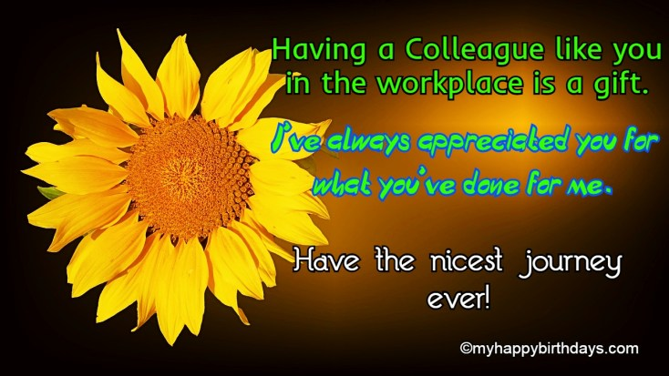 farewell messages to colleague