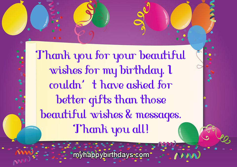 80 Thank You Messages For Birthday Wishes Images Greetings